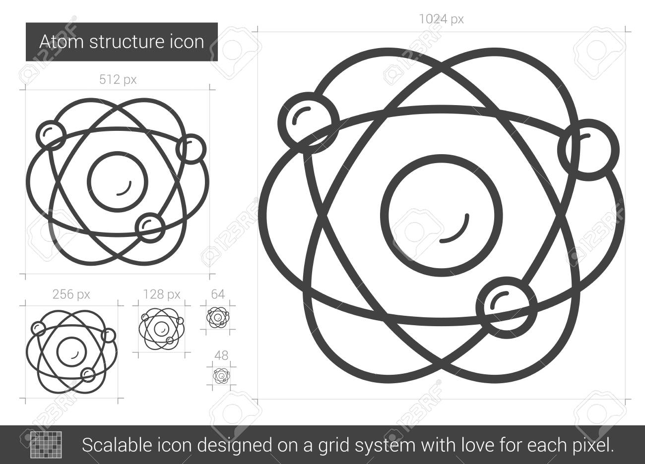 Atom structure vector line icon isolated on white background atom structure vector line icon isolated on white background atom structure line icon for infographic ccuart Gallery