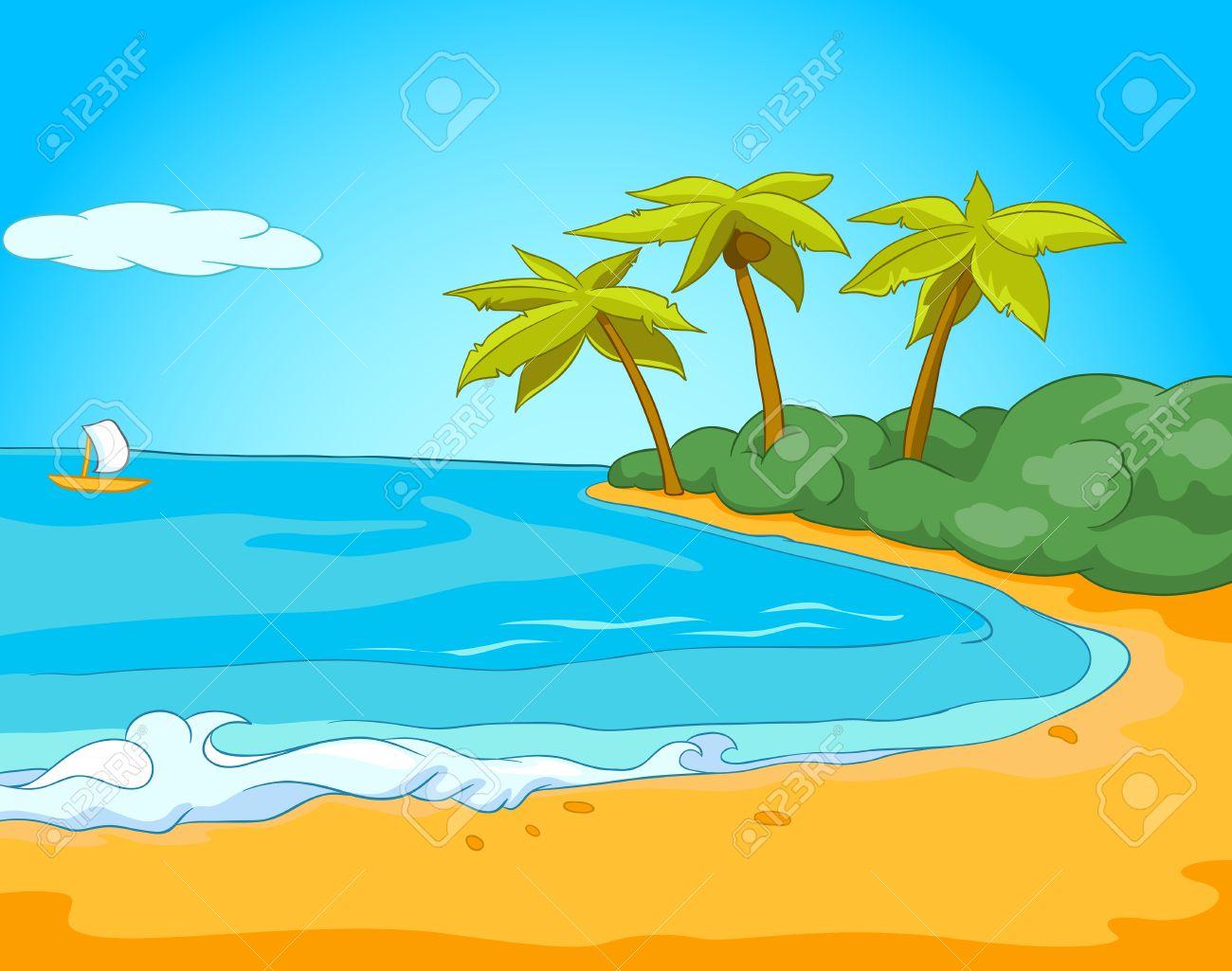 Immagini Stock Disegnato A Mano Cartone Animato Del Paesaggio Di