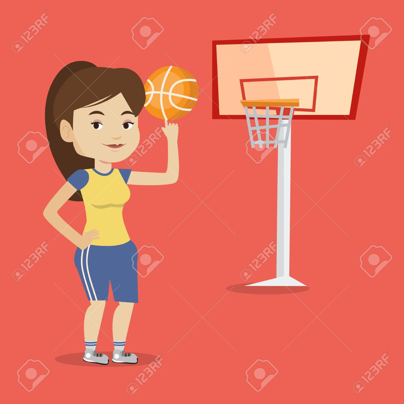 Basketball Player Standing Cartoon