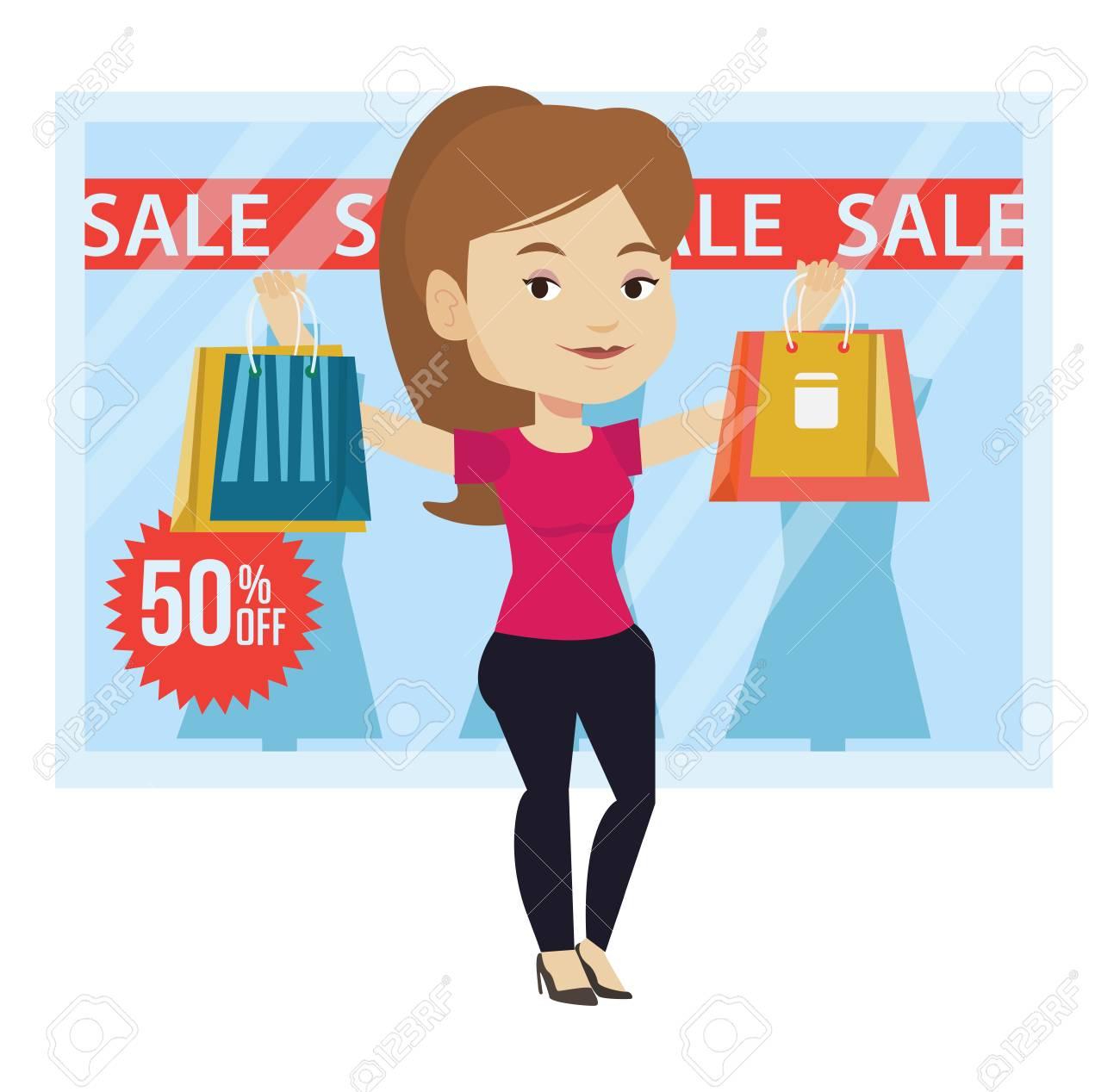 Femme A Vendre En Vente Illustration Vectorielle Clip Art Libres De Droits Vecteurs Et Illustration Image 70567833