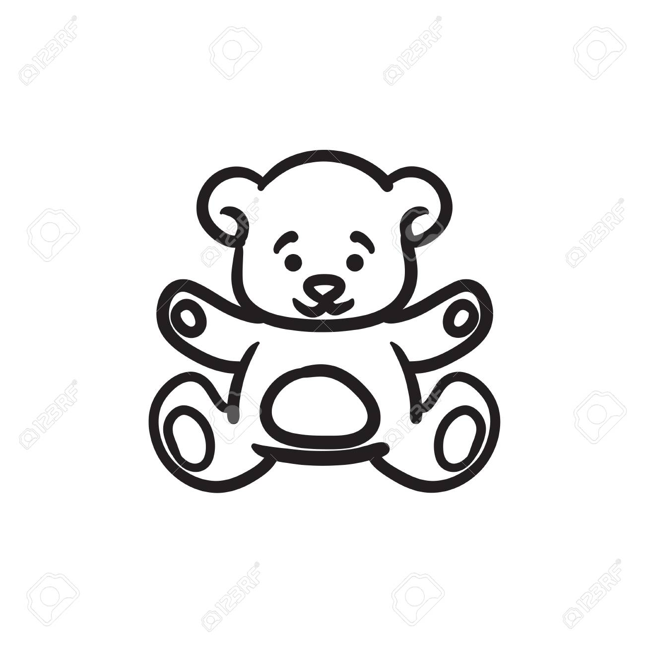 teddy bear vector sketch icon isolated on background hand drawn royalty free cliparts vectors and stock illustration image 72136922 teddy bear vector sketch icon isolated on background hand drawn
