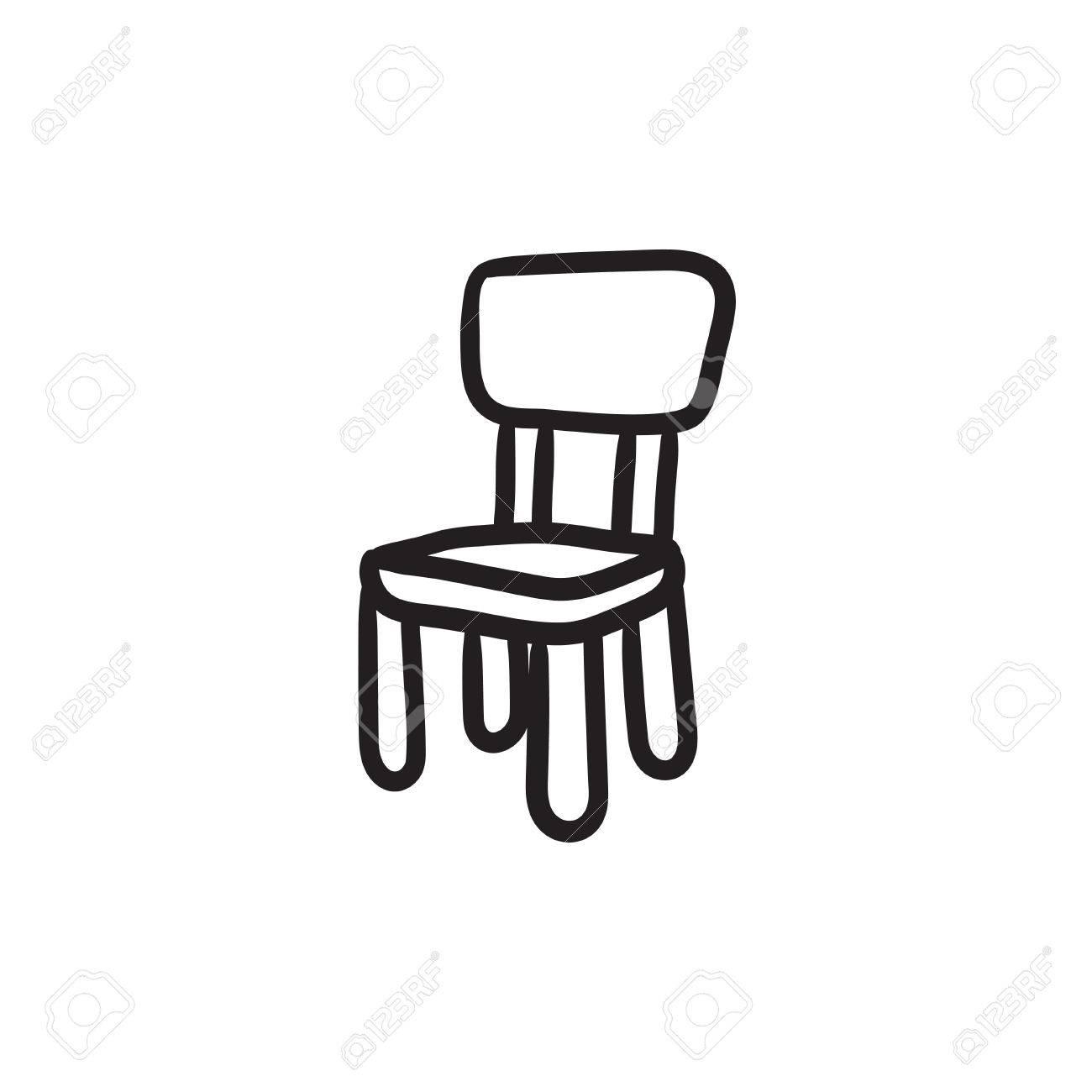 Stuhl Fur Kinder Vektor Skizze Symbol Auf Hintergrund Isoliert Hand