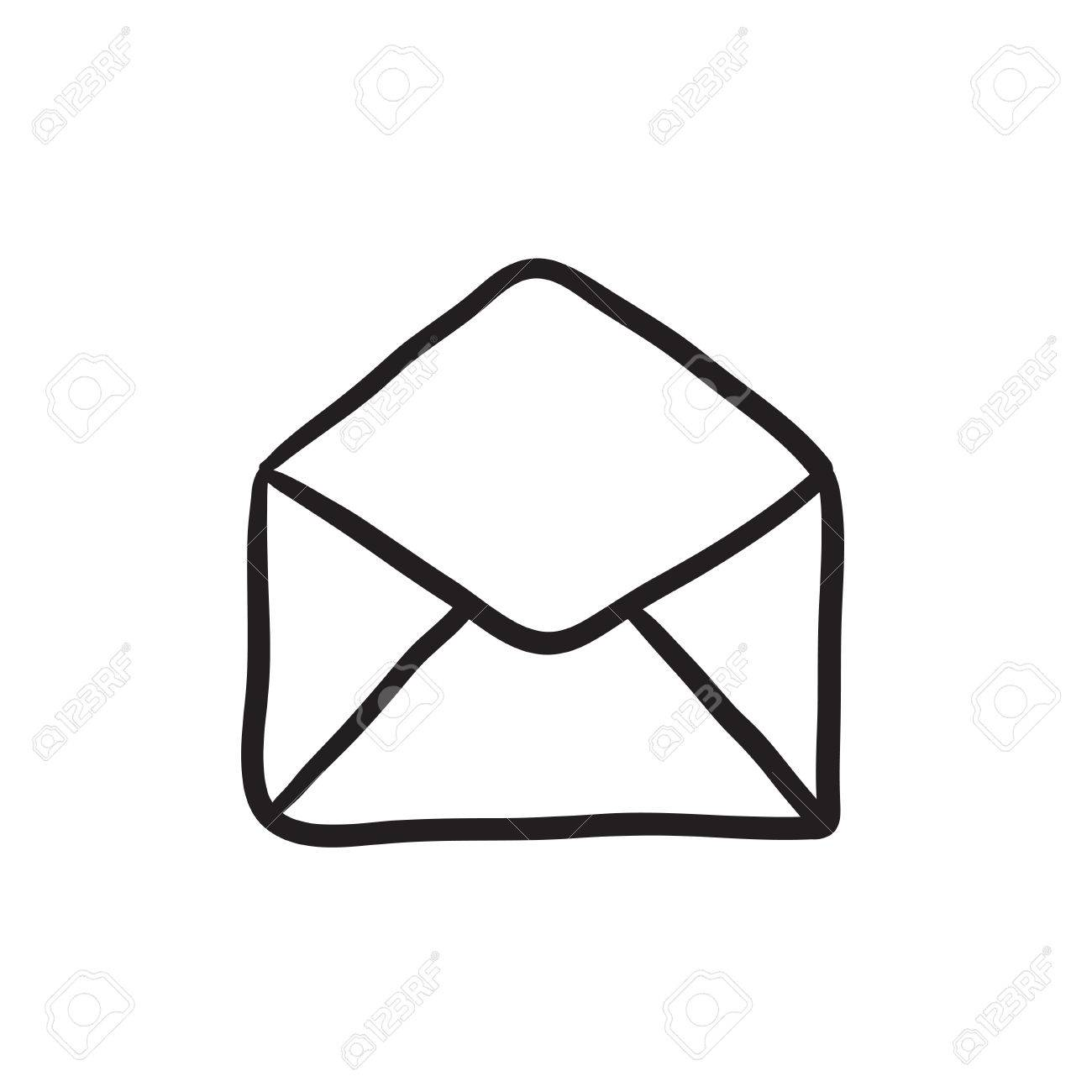 envelope vector sketch icon isolated on background hand drawn rh 123rf com envelope vector free download envelope vector download