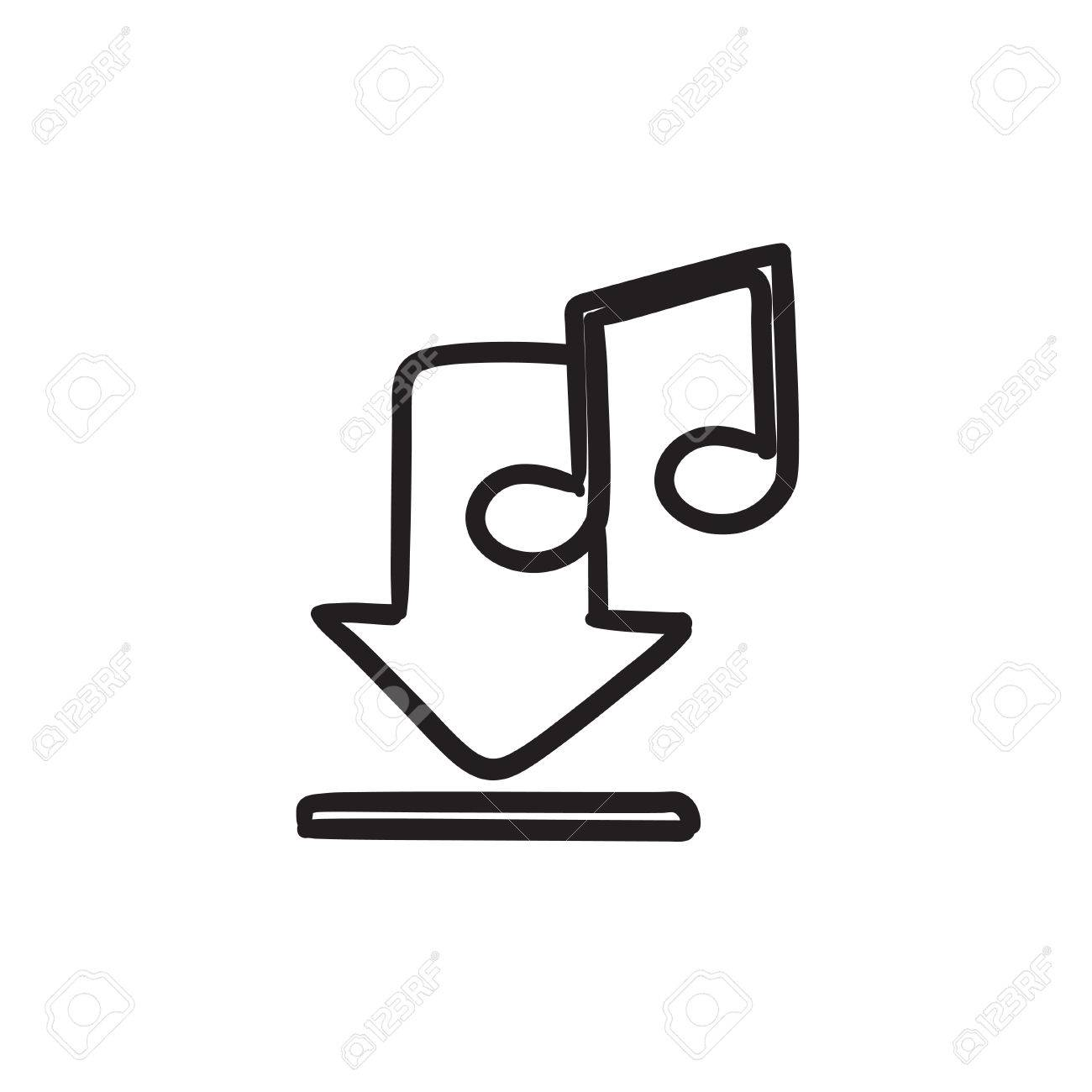 download music vector sketch icon isolated on background hand rh 123rf com free music vector background free music vector icons