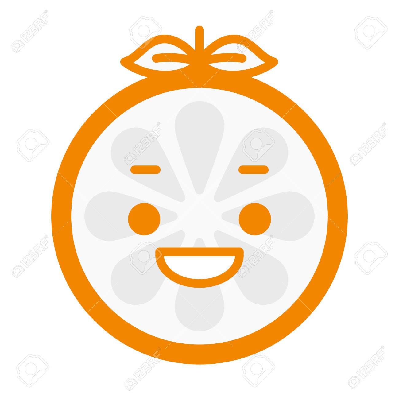 laugh emoji laughing orange fruit emoji vector flat design emoticon icon isolated on white