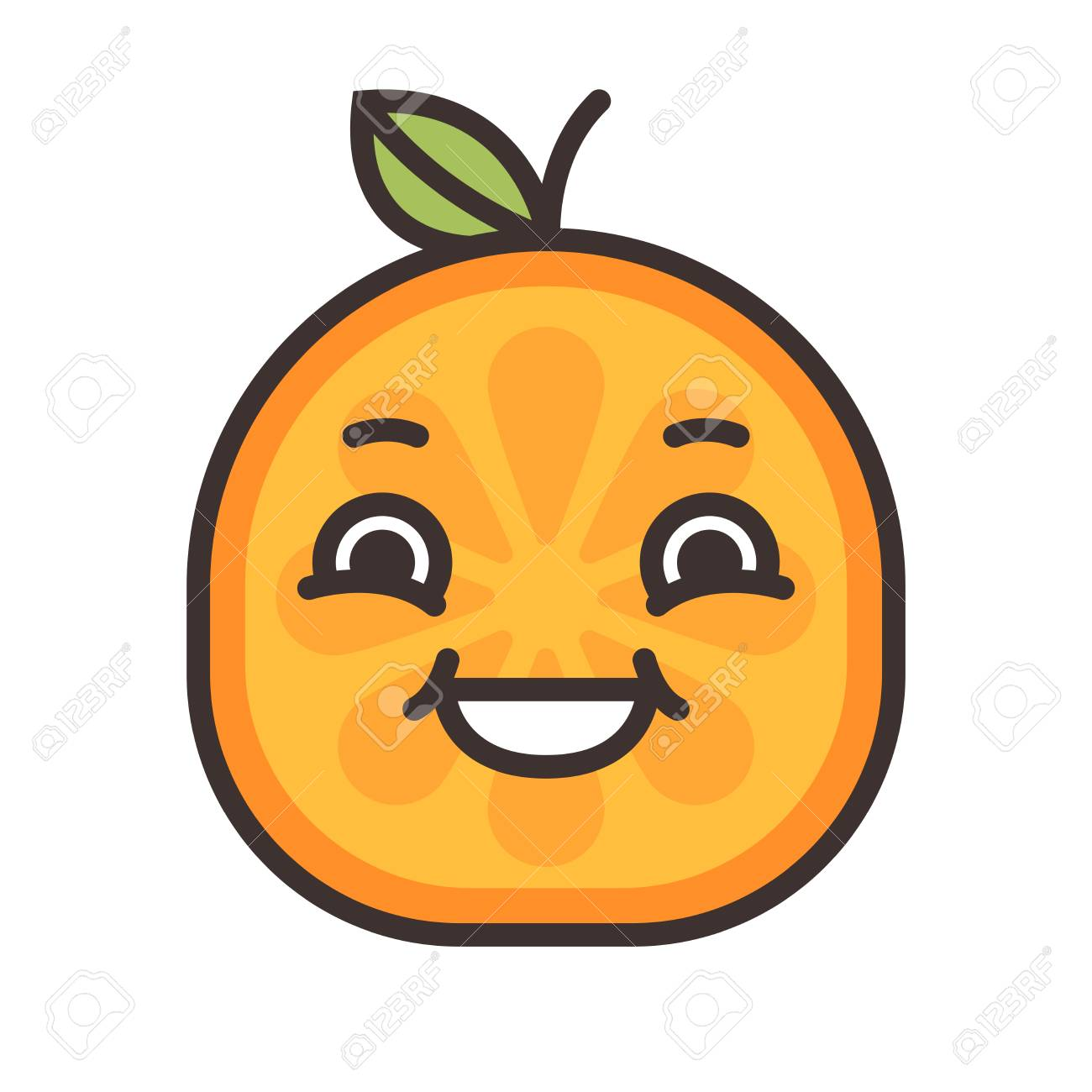 Riegue Emoji Emoji De Naranja Risa Icono De Diseño Plano De