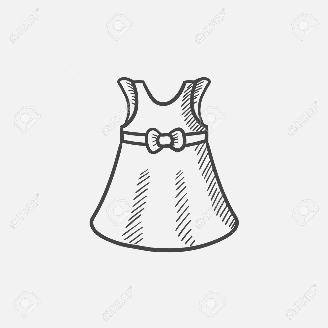 Icono De Esbozo De Vestido De Bebé Para Web Móvil E Infografía Mano Dibuja El Icono Aislado Vector