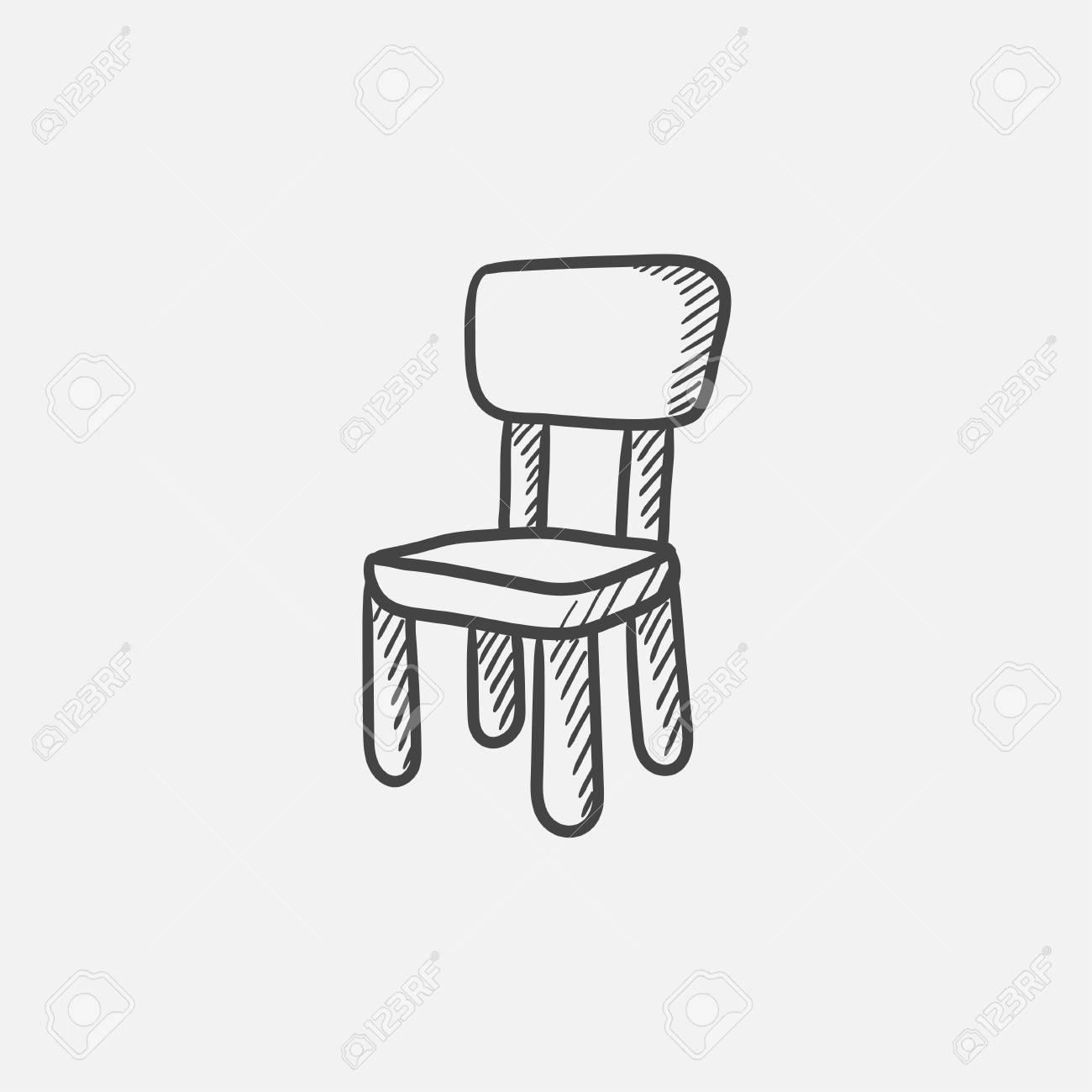 Stuhl Fur Kinder Skizze Icon Web Handy Und Infografik Hand