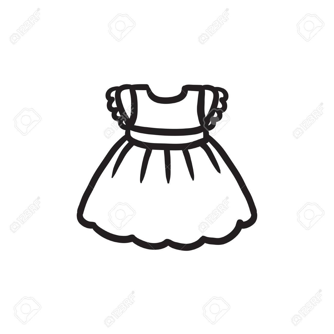 Dibujo FondoDibujado Bebé Vector Mano Icono A Aislado En BebéBoceto Vestido De El Del lF1TcKJ