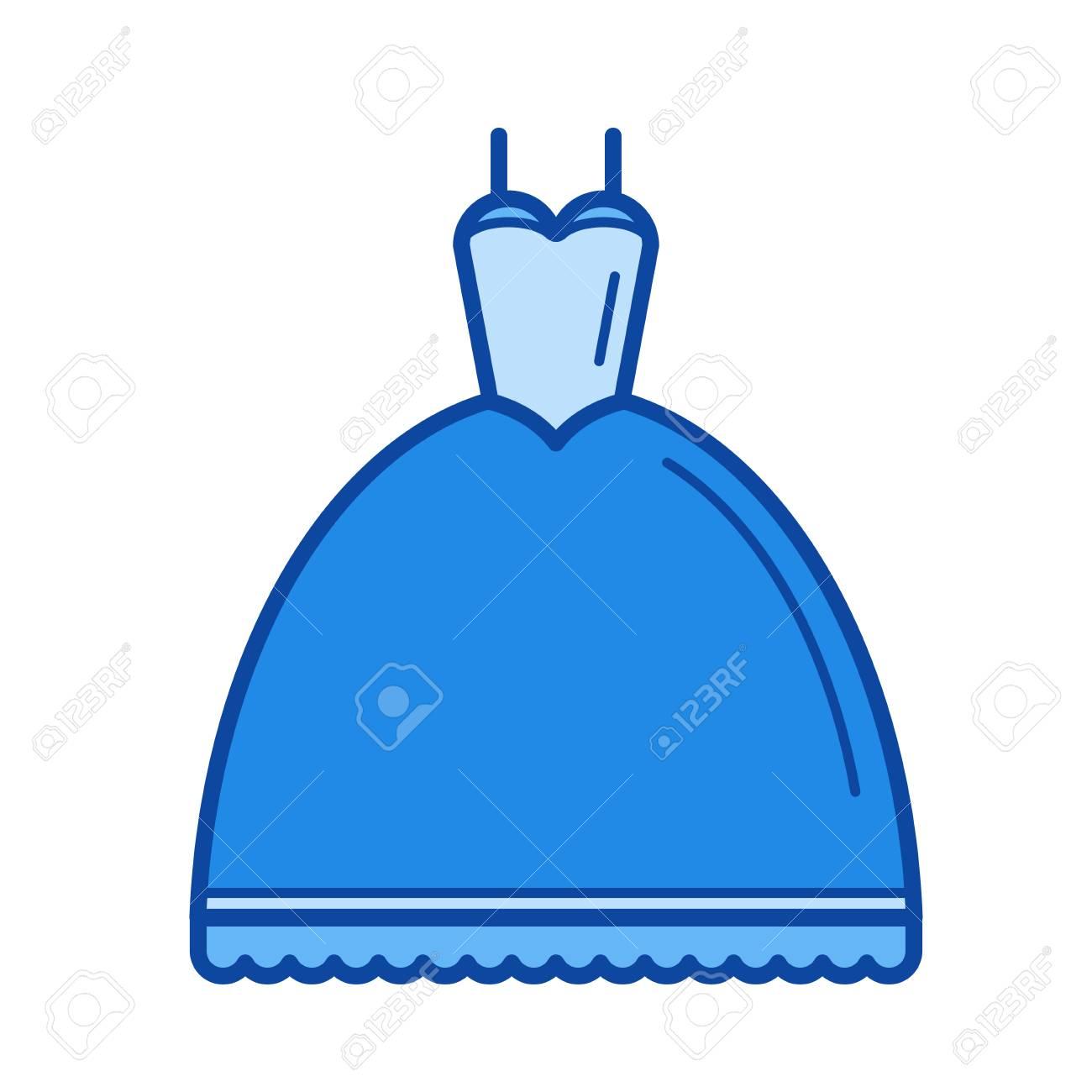 Cone Da Linha Do Vetor Do Vestido De Casamento Isolado No Fundo Branco ãcone Da Linha De Vestido De Casamento Para Infogrãfico Site Ou Aplicativo