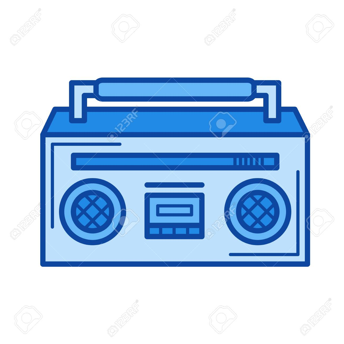 boombox vector line icon isolated on white background boombox rh 123rf com boom box vector free boombox vector image