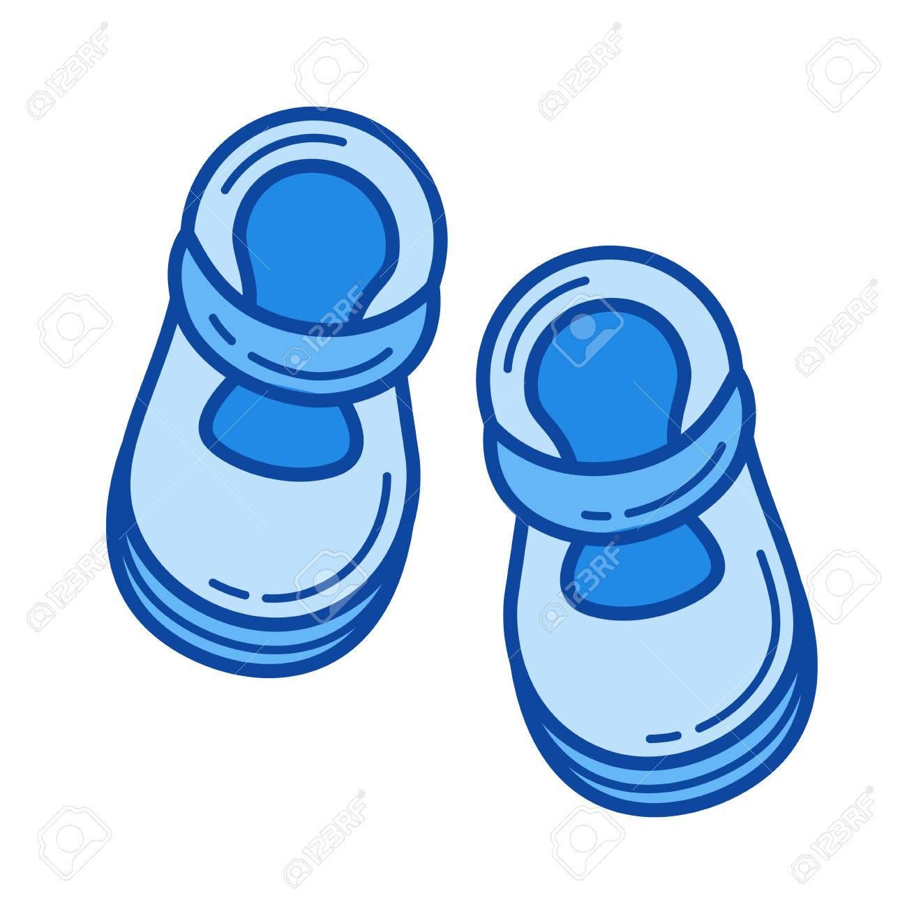 Baby Shoes Vector Line Icon Isolated On White Background Baby Royalty Free Cliparts Vectors And Stock Illustration Image 84943090