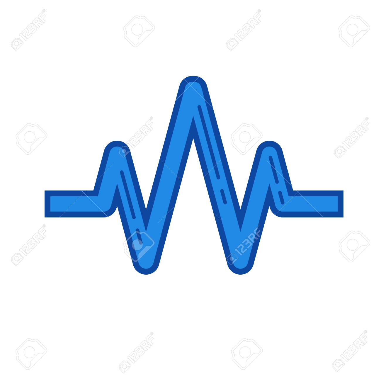sound wave vector line icon isolated on white background sound rh 123rf com sound wave vector ai sound wave vector download