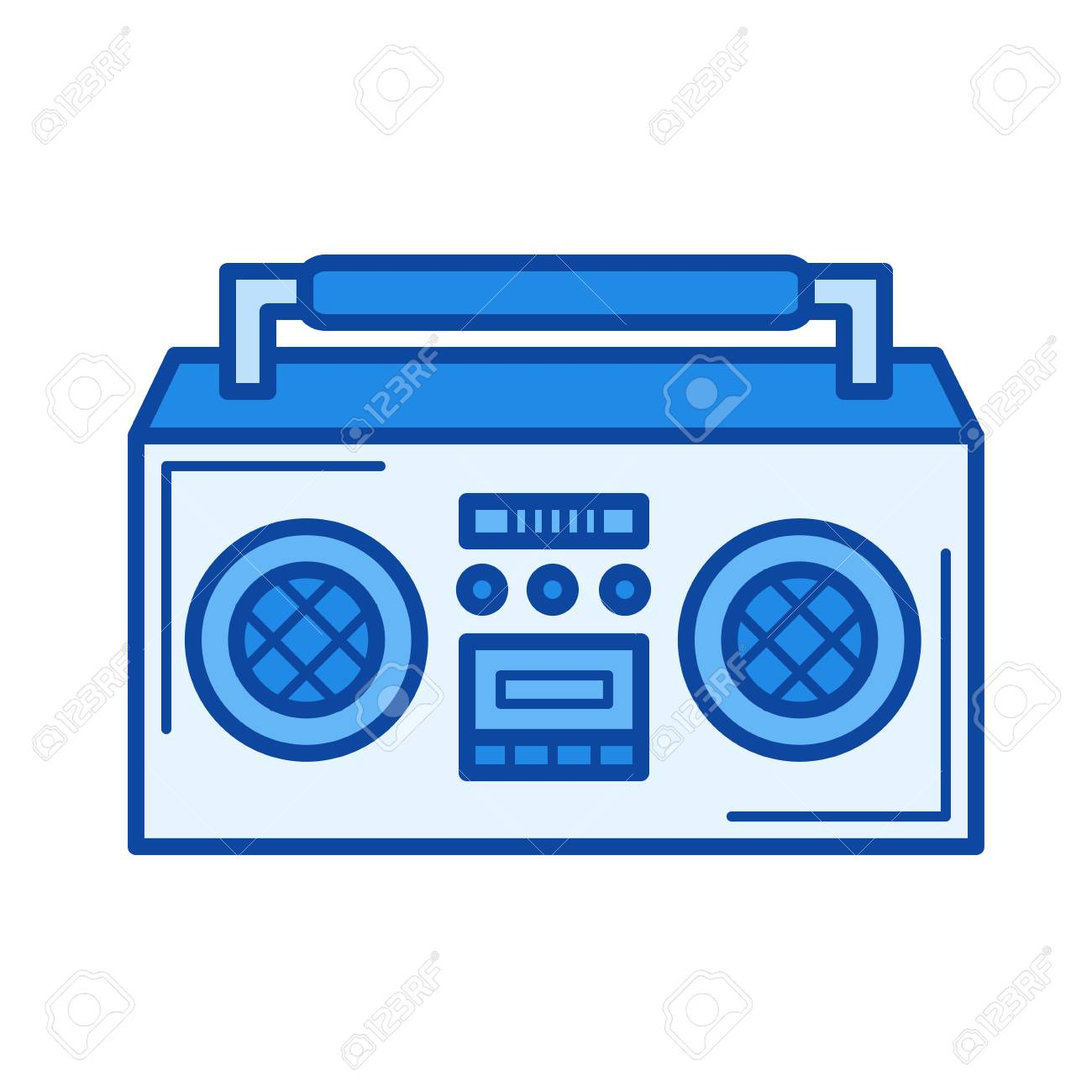 vintage boombox vector line icon isolated on white background rh 123rf com 80s boombox vector boombox vector art