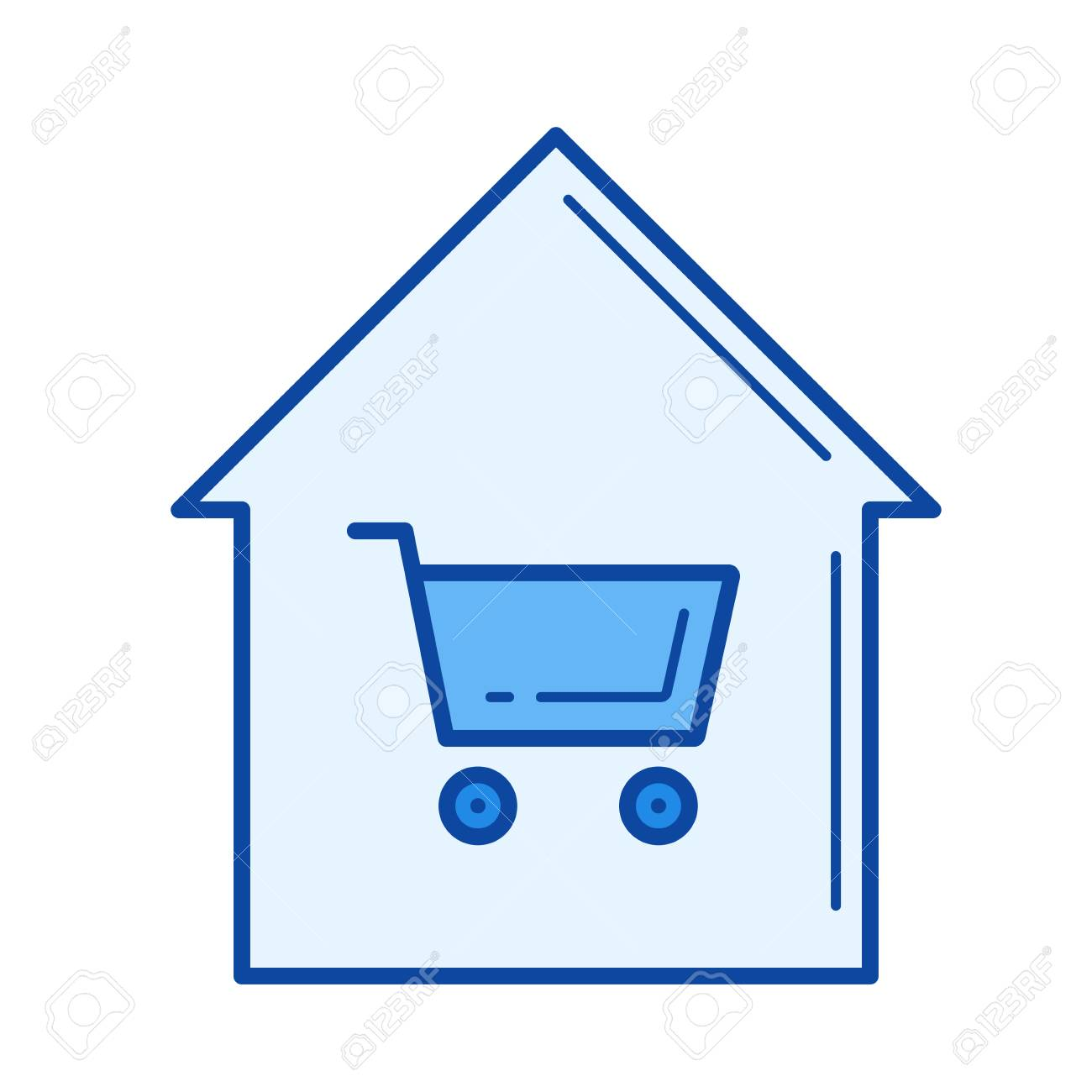 home buying vector line icon isolated on white background home rh 123rf com
