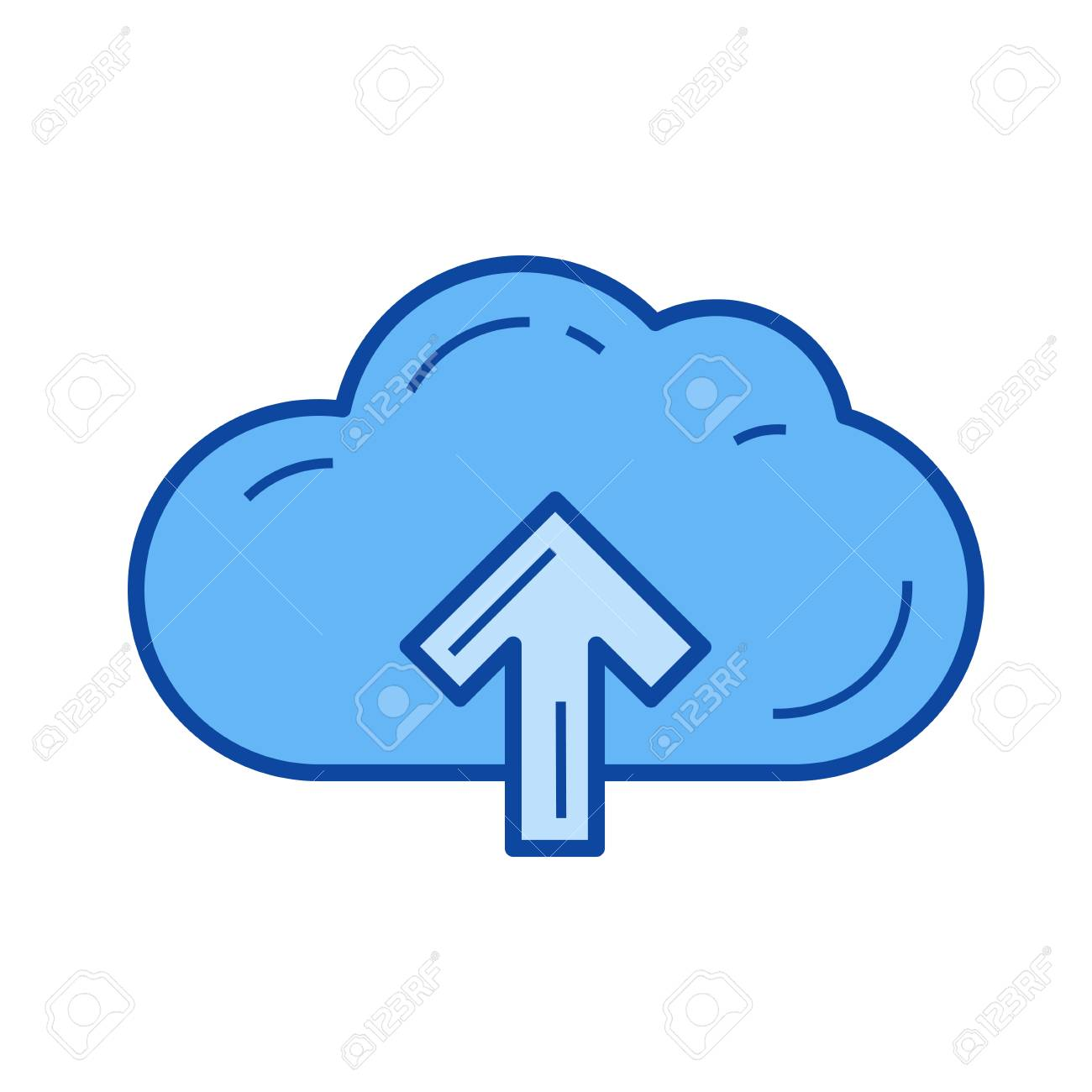 cloud storage vector line icon isolated on white background rh 123rf com cloud vectors illustrator cloud vectors free download