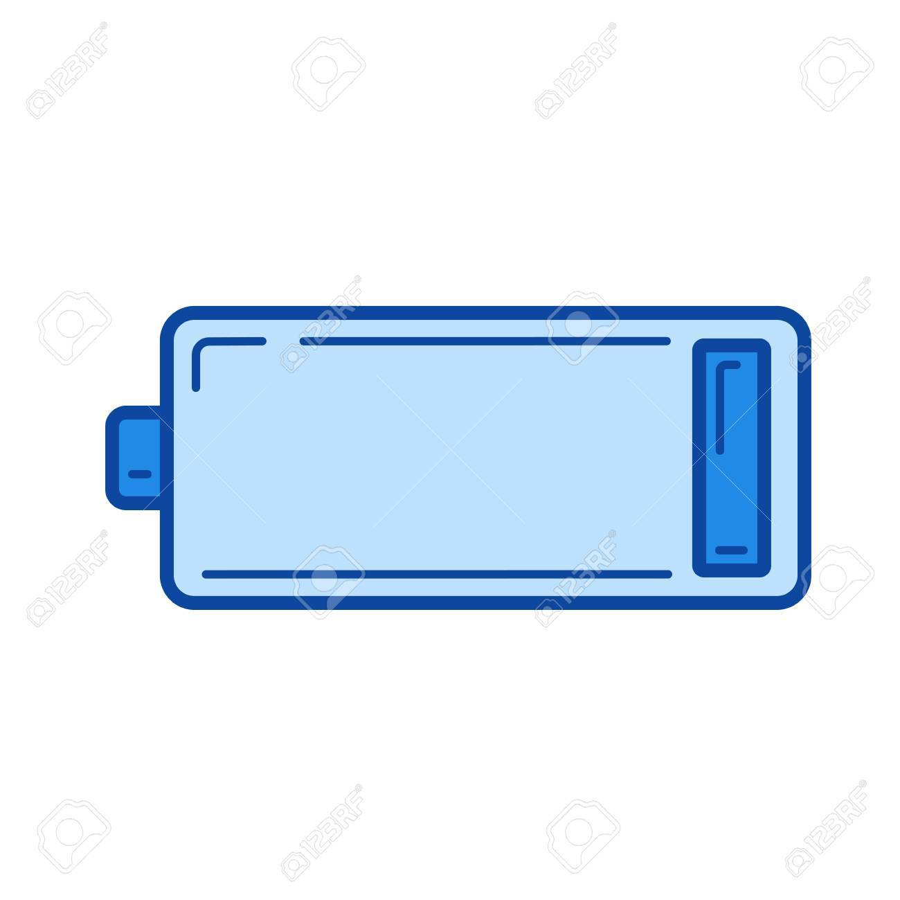 low battery vector line icon isolated on white background low royalty free cliparts vectors and stock illustration image 84943975 low battery vector line icon isolated on white background low