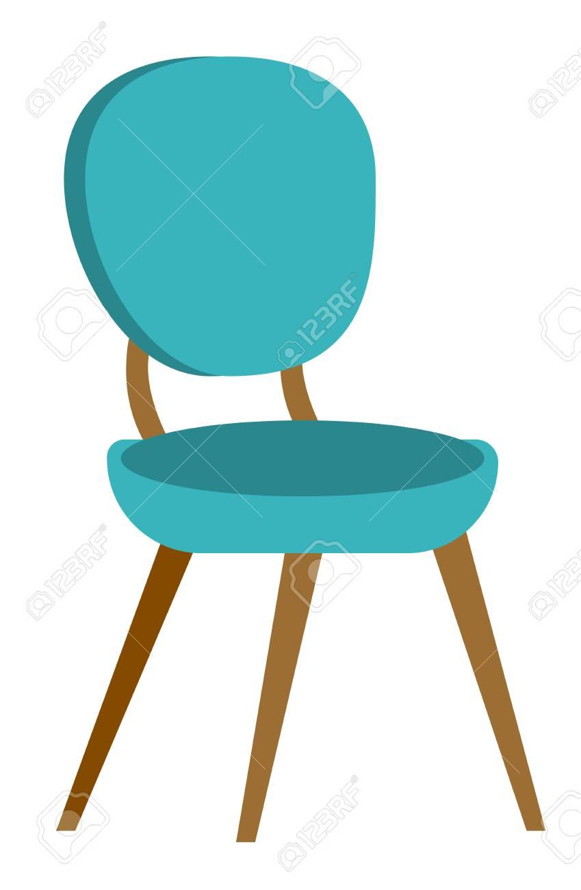 Chaise Confortable Moderne Bleu Pour Bureau Et Maison Illustration