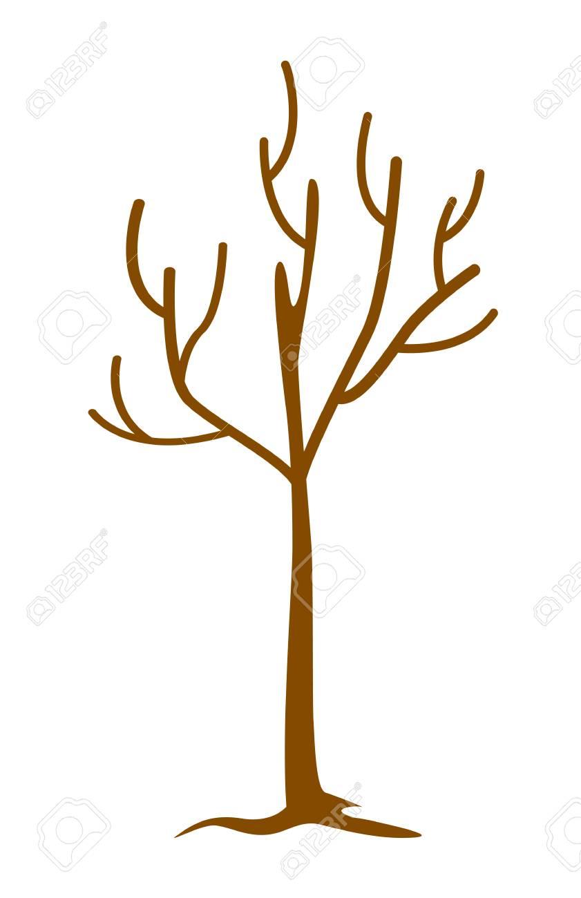 Rbol Desnudo Sin Hojas árbol Muerto Y Seco Ilustración De Dibujos