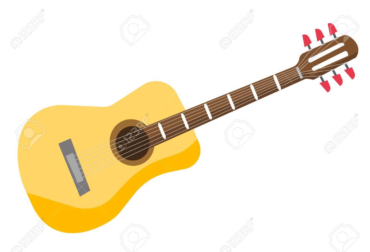 classical acoustic guitar vector cartoon illustration isolated rh 123rf com acoustic guitar silhouette vector free acoustic guitar vector art