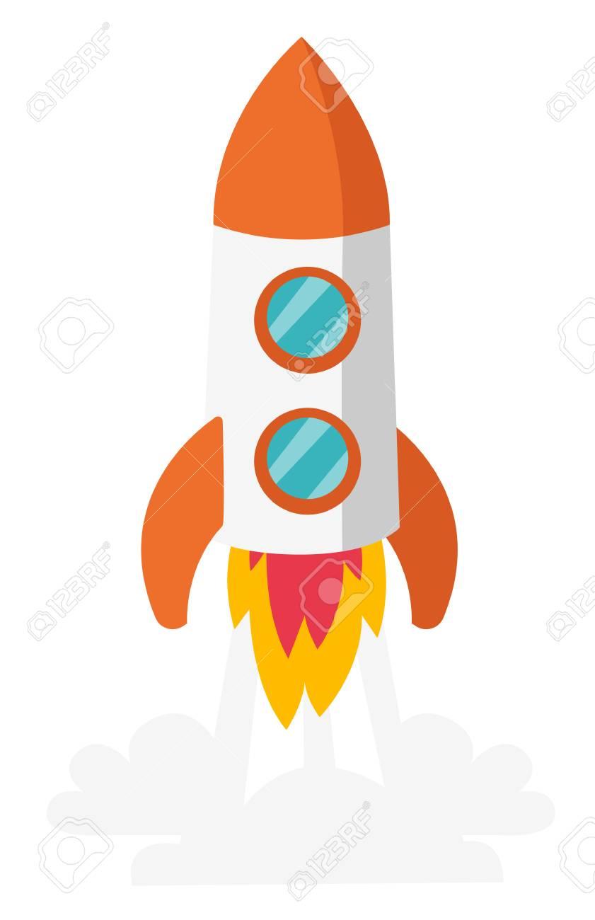 Dessin Vaisseau Spatial rocket vaisseau spatial décoller illustration de dessin animé de