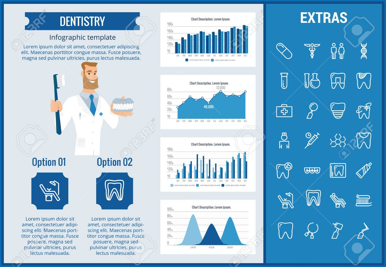 dentistry infographic template elements and icons infograph