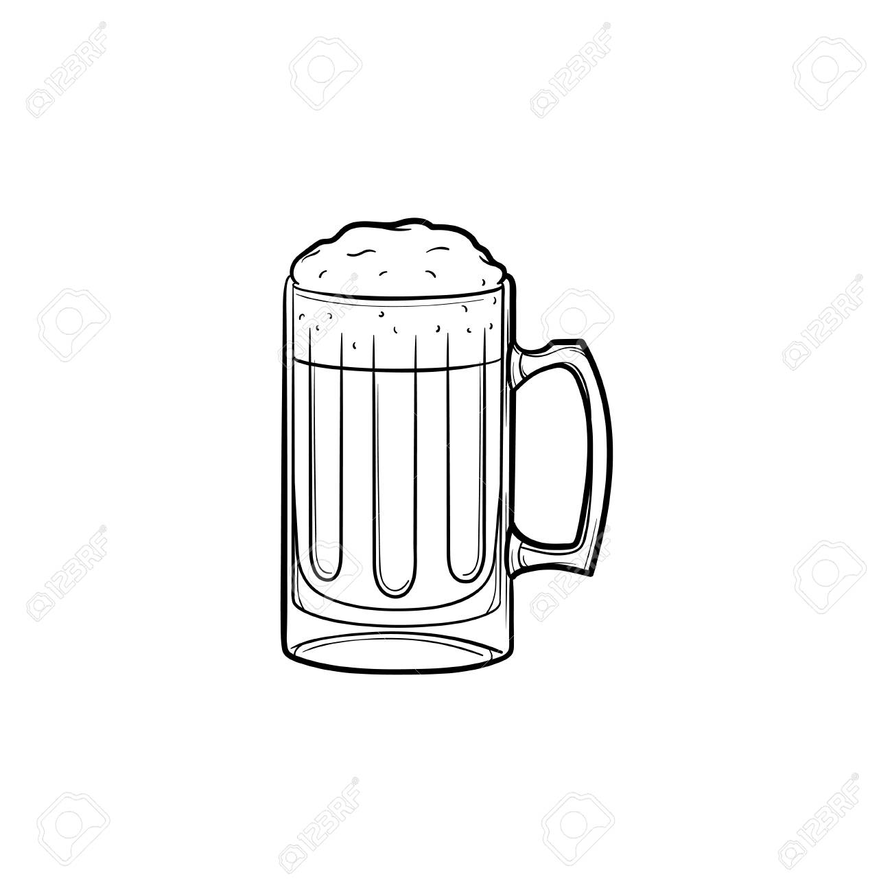 Mug Of Beer Hand Drawn Outline Doodle Icon Vector Sketch Illustration Royalty Free Cliparts Vectors And Stock Illustration Image 97118480