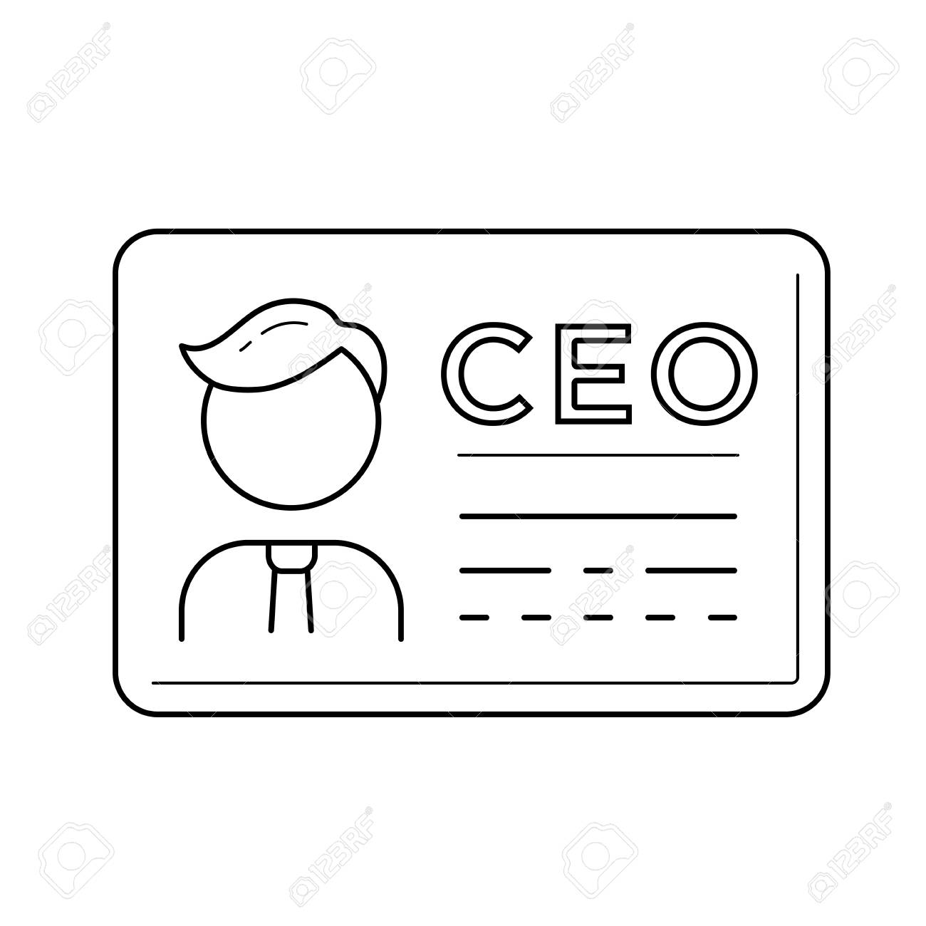 Ceo business card vector line icon isolated on white background ceo business card vector line icon isolated on white background chief executive officer line icon reheart Images
