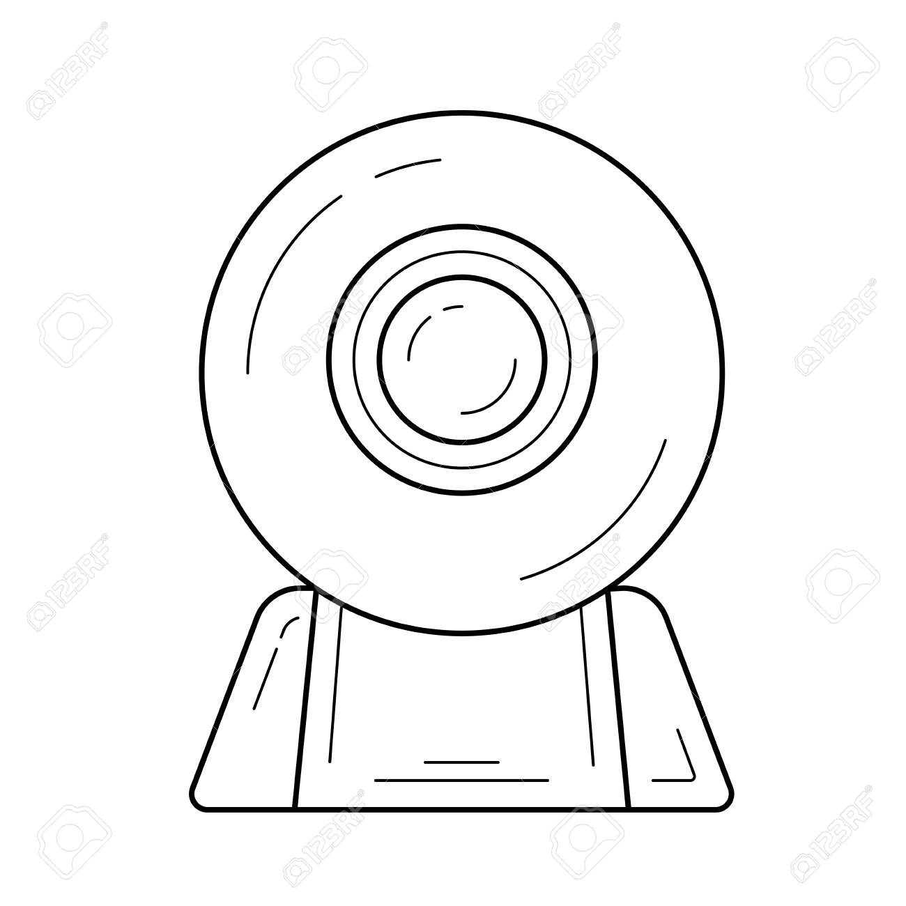web cam vector line icon isolated on white background web camera Kinect Camera System vector web cam vector line icon isolated on white background web camera line icon for infographic website or app icon designed on a grid system