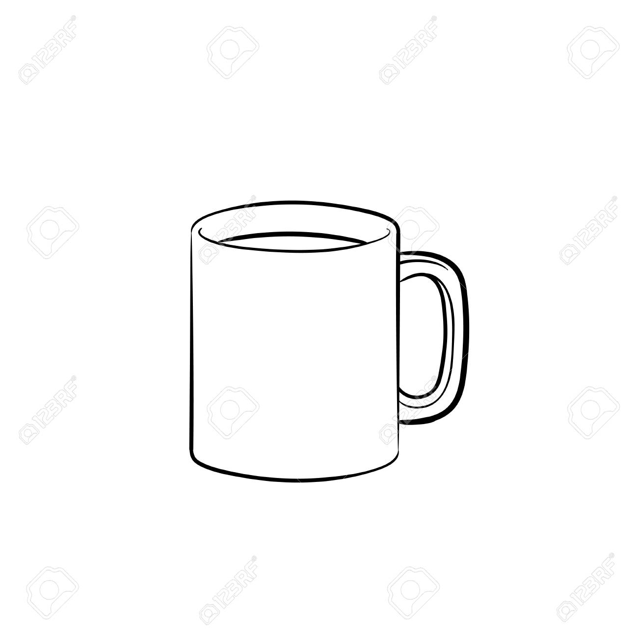 Hand With Drink Drawn Hot Outline Of IconCoffee Mug Doodle VqSUMGzp
