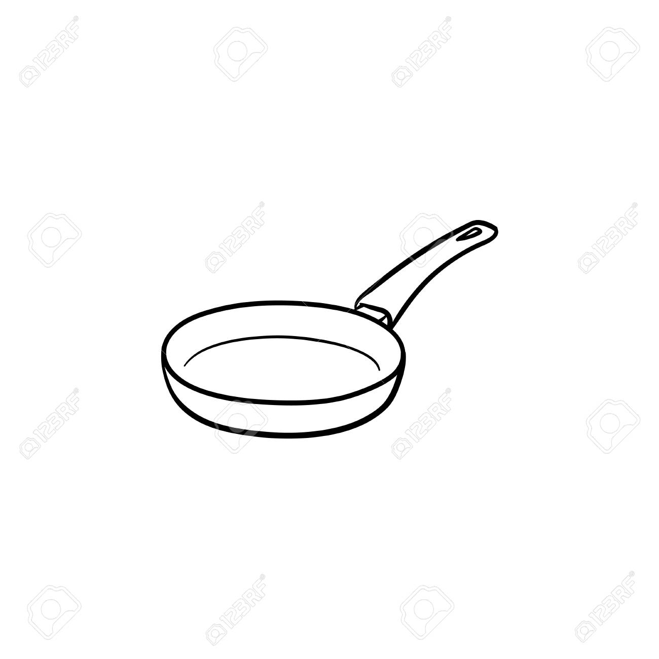 Outline Of A Pan Wiring Diagrams And Schematics Figure 11 Diagram Car39s Electrical Frying Hand Drawn Doodle Icon For Food Rh 123rf Com