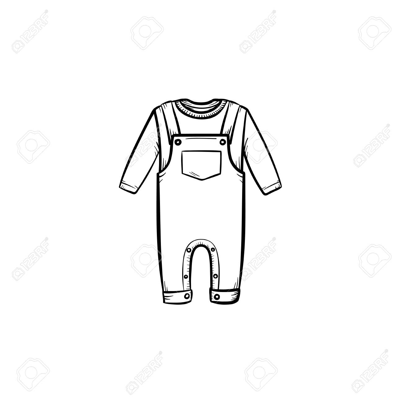 8d297c301 Baby Shirt And Pants Hand Drawn Outline Doodle Icon. Baby Clothing ...