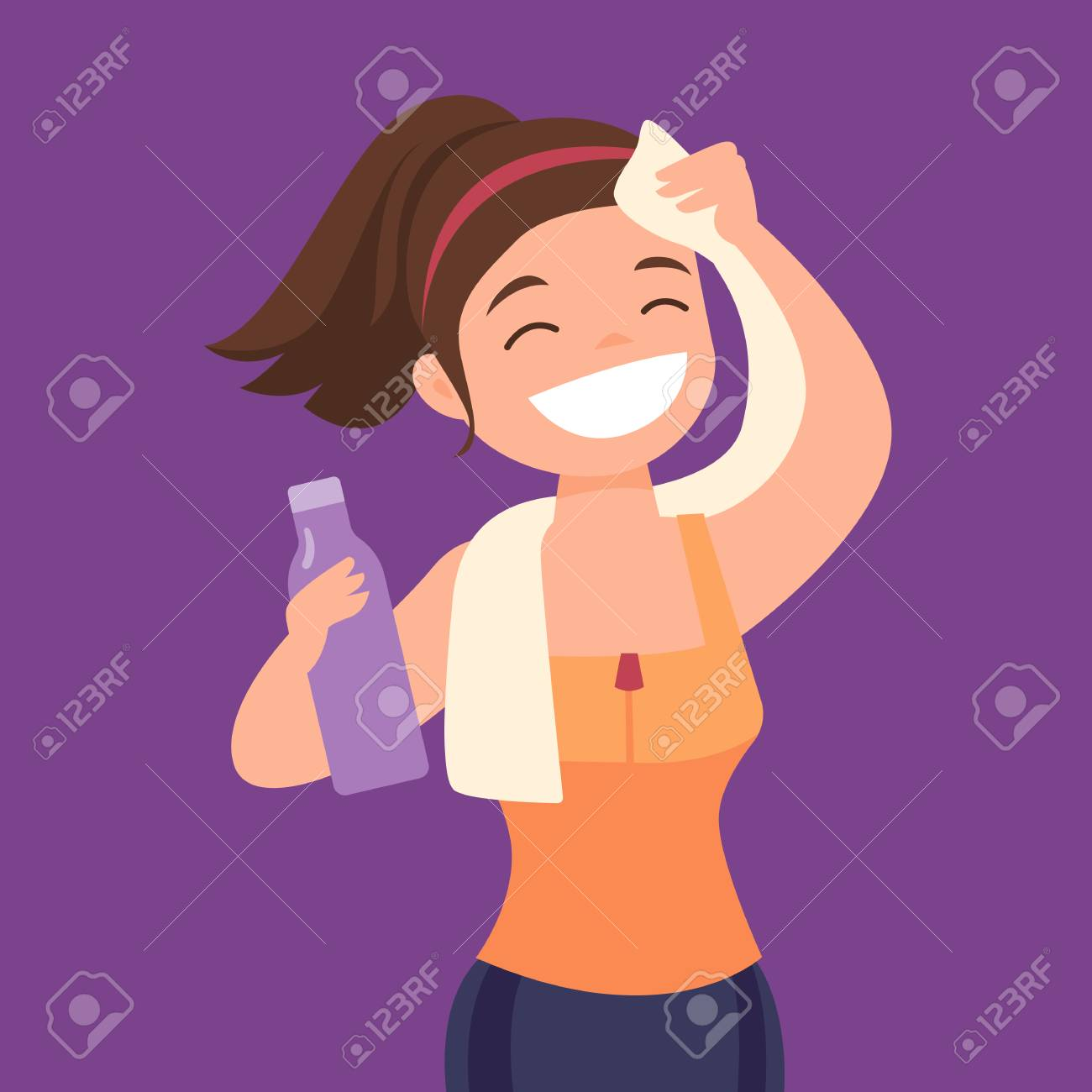 A Blonde Woman Sweating Profusely Stock Photo, Picture And Royalty Free  Image. Image 8068983.