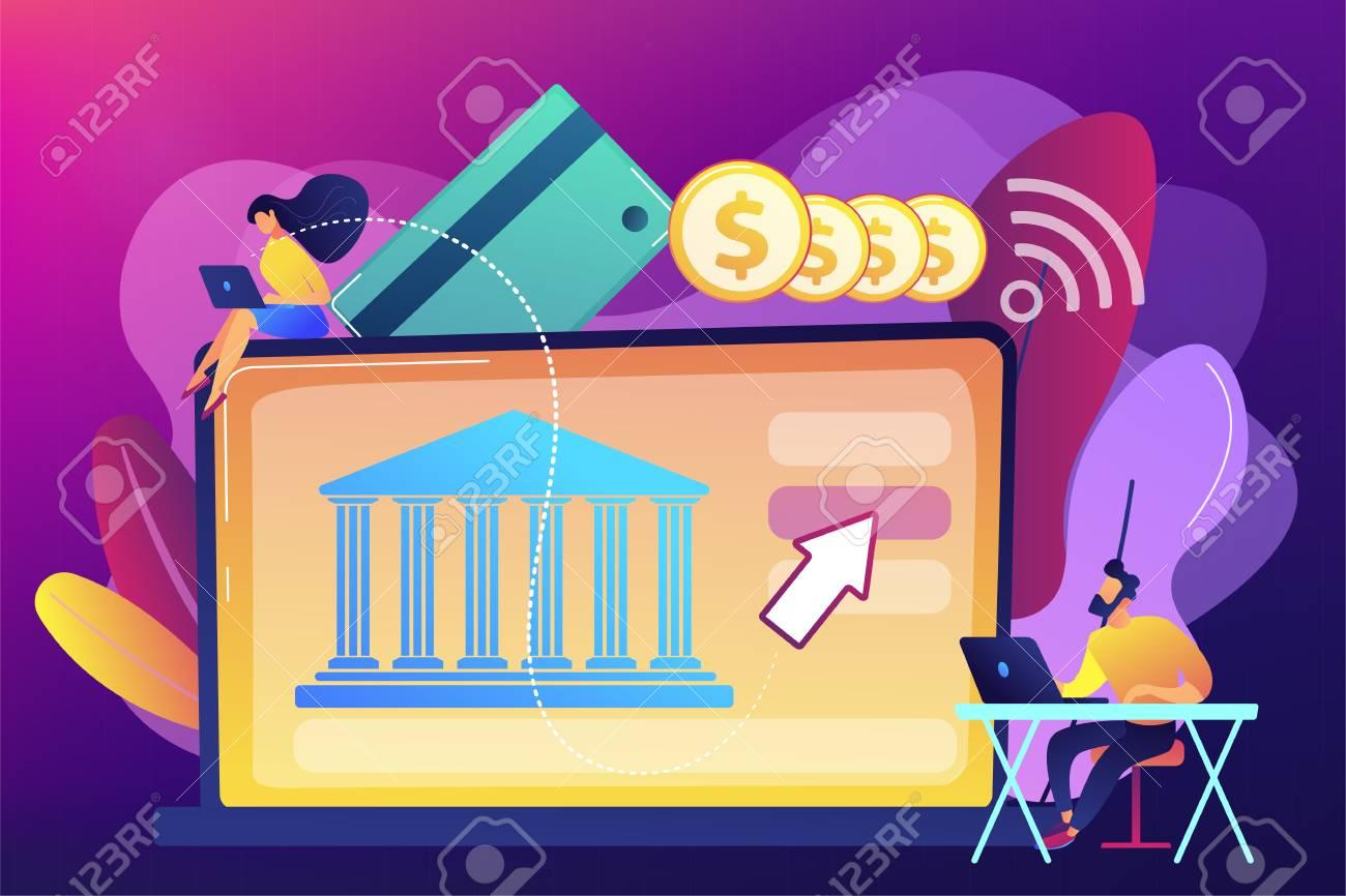 Open banking platform concept vector illustration. - 117643156