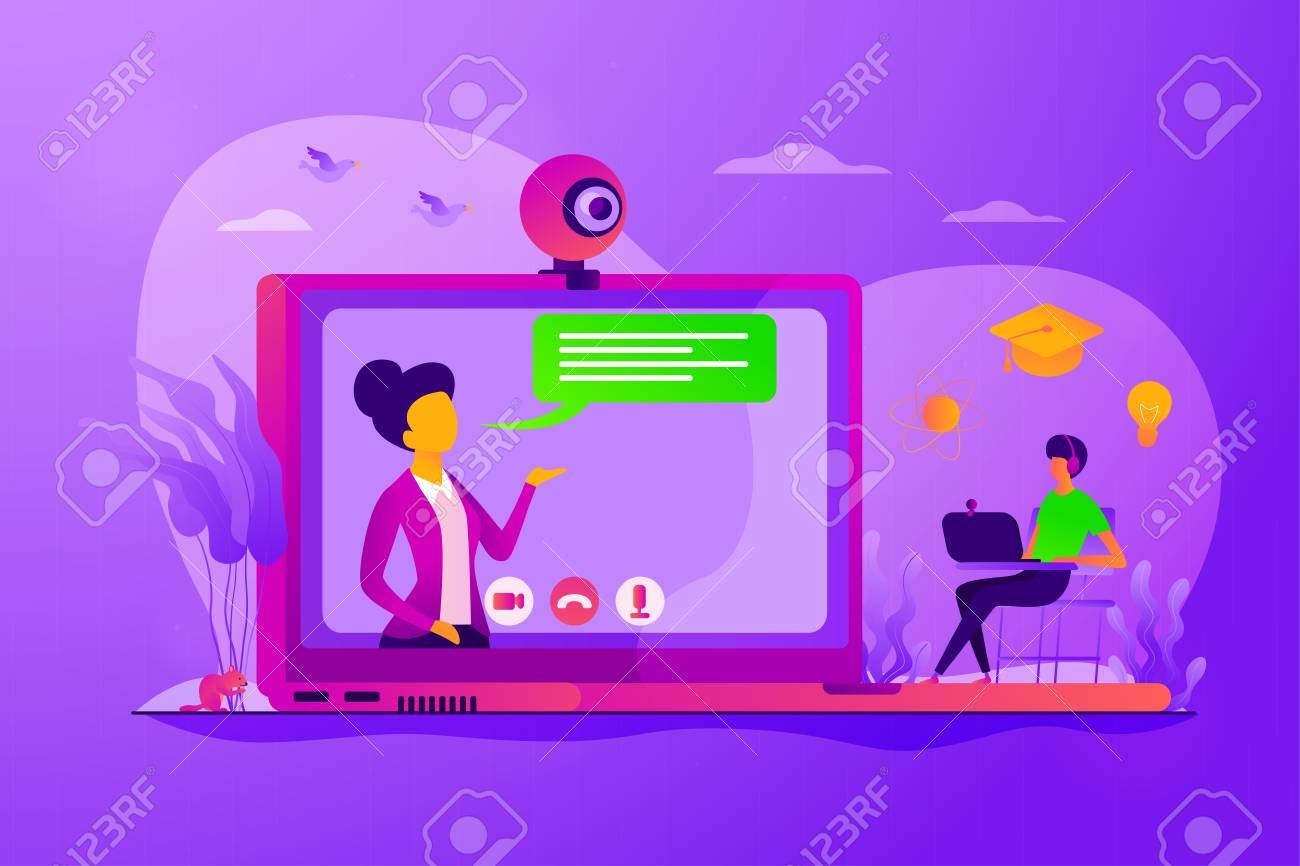 E-learning course  Virtual lecturer modern education technology