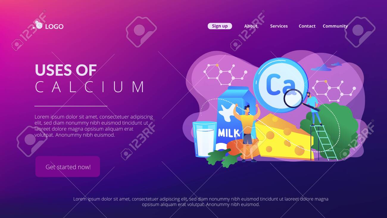 Uses of Calcium concept landing page. - 123119536