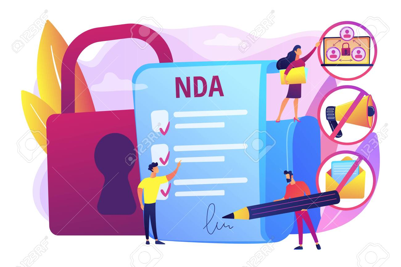 Nondisclosure agreement concept vector illustration - 128228982