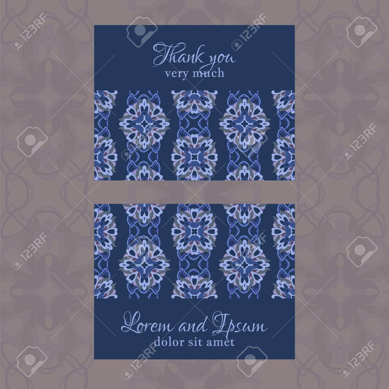 Carte De Visite Avec Motif Floral Gomtrique Utilisez La Finition Presse Invitations Brochures
