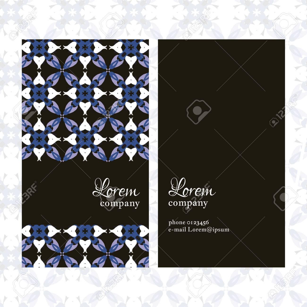 Carte De Visite Motif Floral Gomtrique Utilisez Les Finitions Presse Invitations Brochures