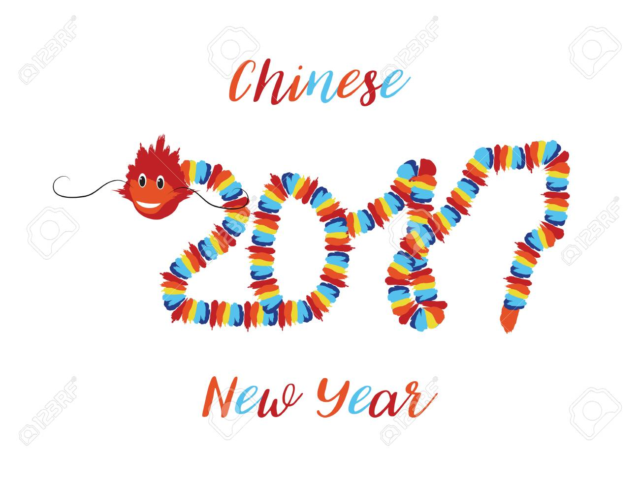 Chinese new year asian symbols of good luck chinese dragon element chinese new year asian symbols of good luck chinese dragon element in the form numbers 2017 buycottarizona Gallery
