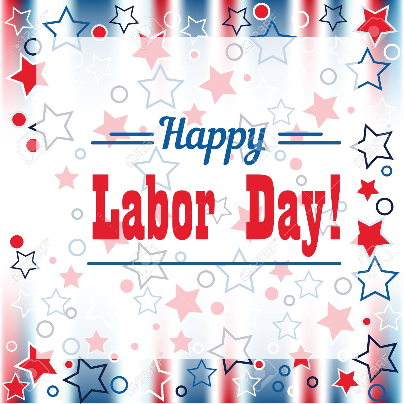 Holiday Greetings Illustration Labor Day Royalty Free Cliparts