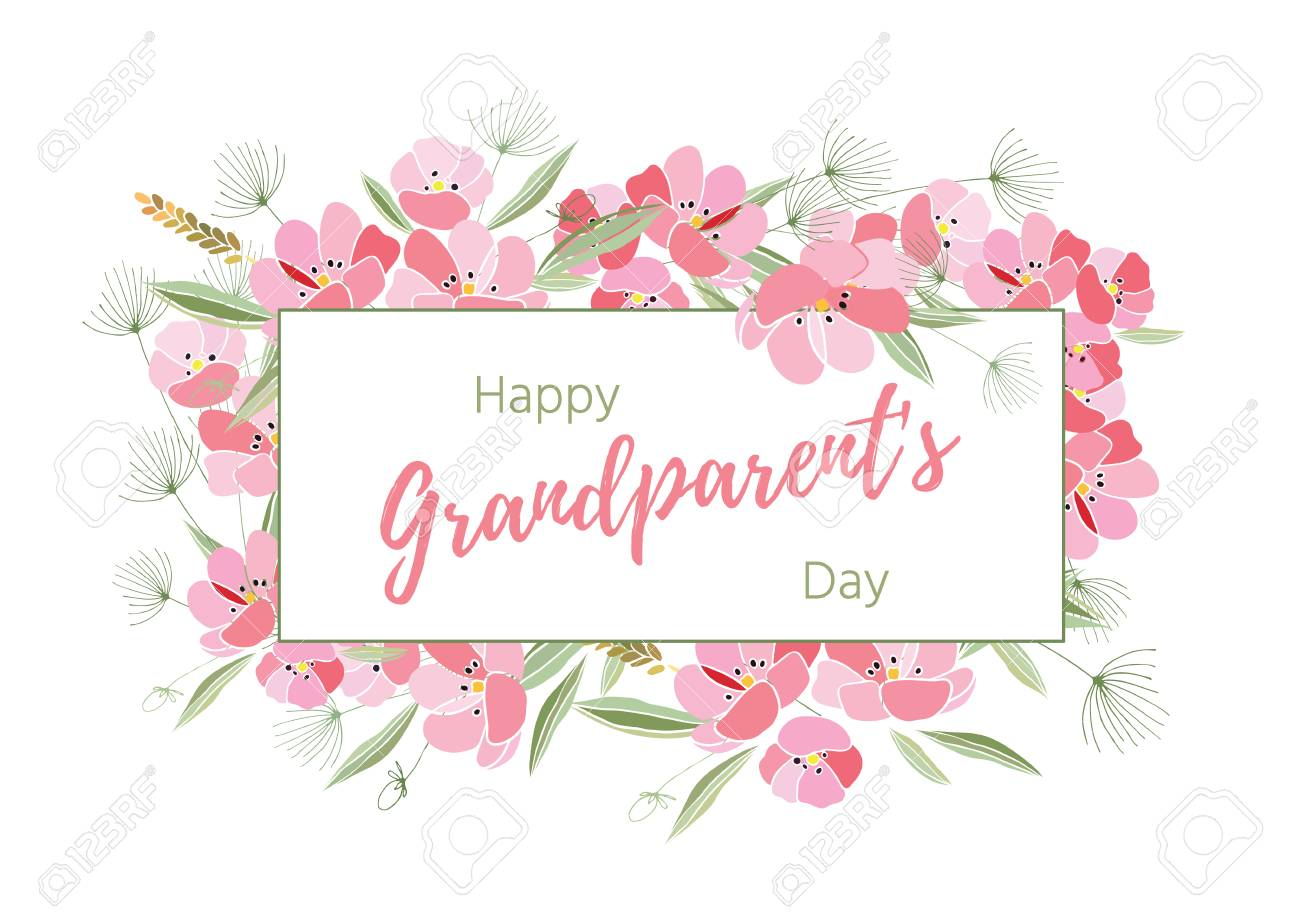 Holiday Greetings Illustration Grandparents Day Royalty Free