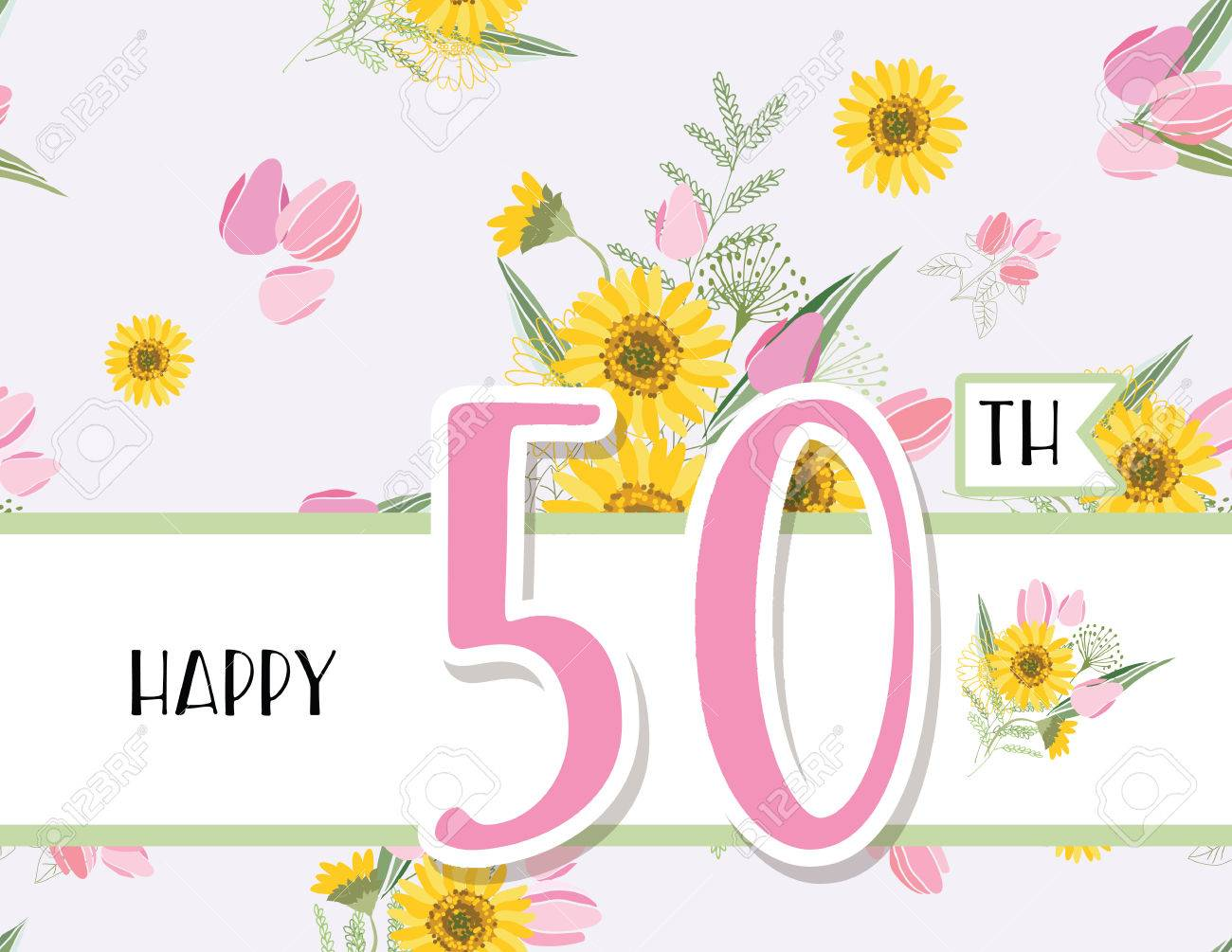 Greeting Card For Anniversary Birthday Royalty Free Cliparts