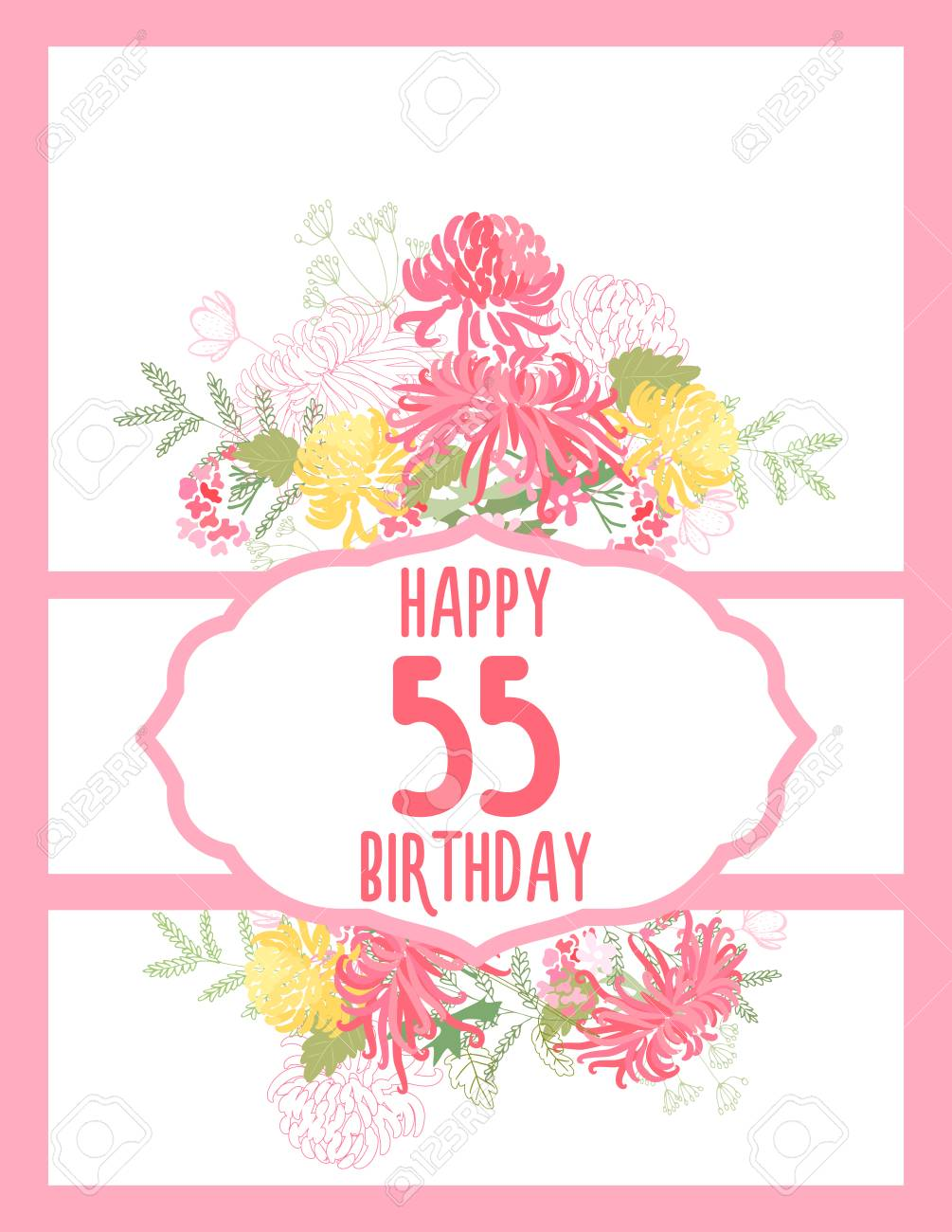 Greeting card for anniversary birthday on a plain background greeting card for anniversary birthday on a plain background stock vector 87777660 m4hsunfo