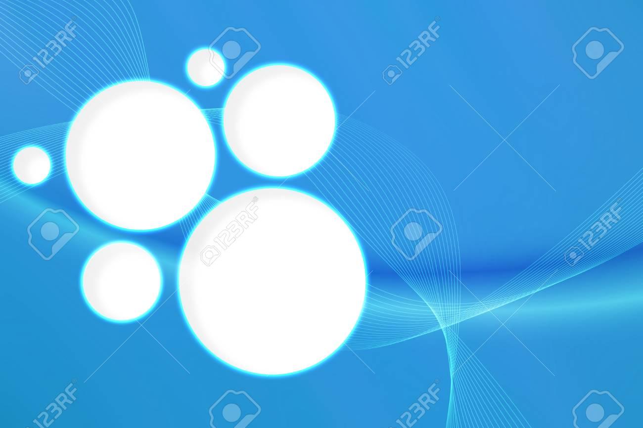 明るい青の背景に白い円と渦巻線 の写真素材・画像素材 Image 31417989.