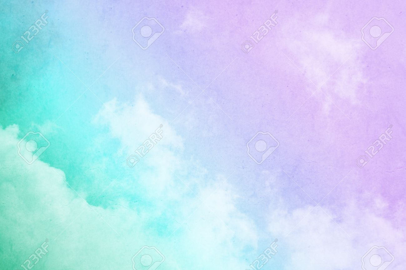 ee6a824978 cloudscape with purple to green gradient color on grunge texture Stock  Photo - 34411156