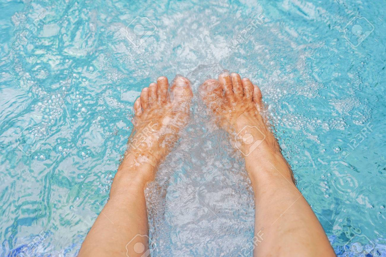 Old Women\'s Feet In Jacuzzi Pool Stock Photo, Picture And Royalty ...