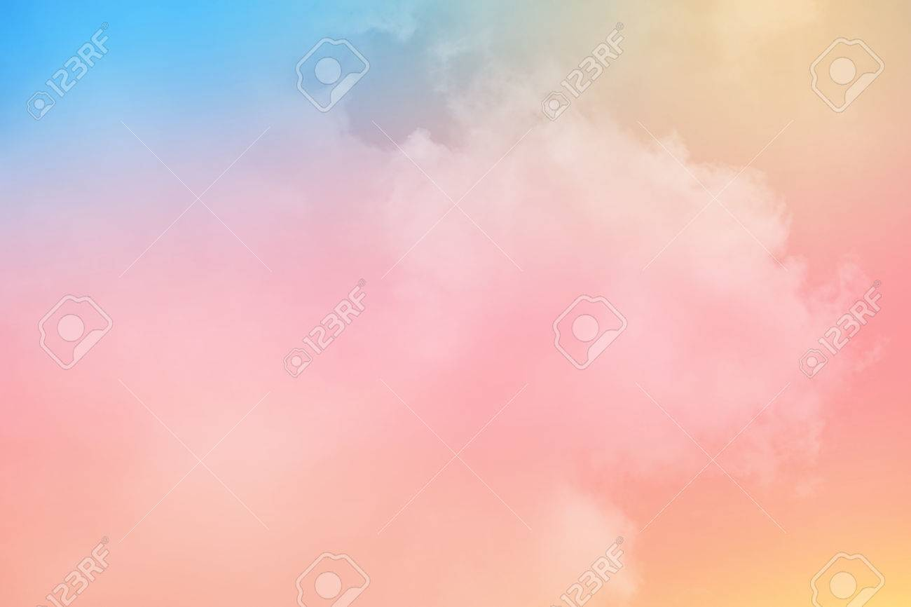 cloudy skay with pastel gradient color, nature abstract background - 79164377