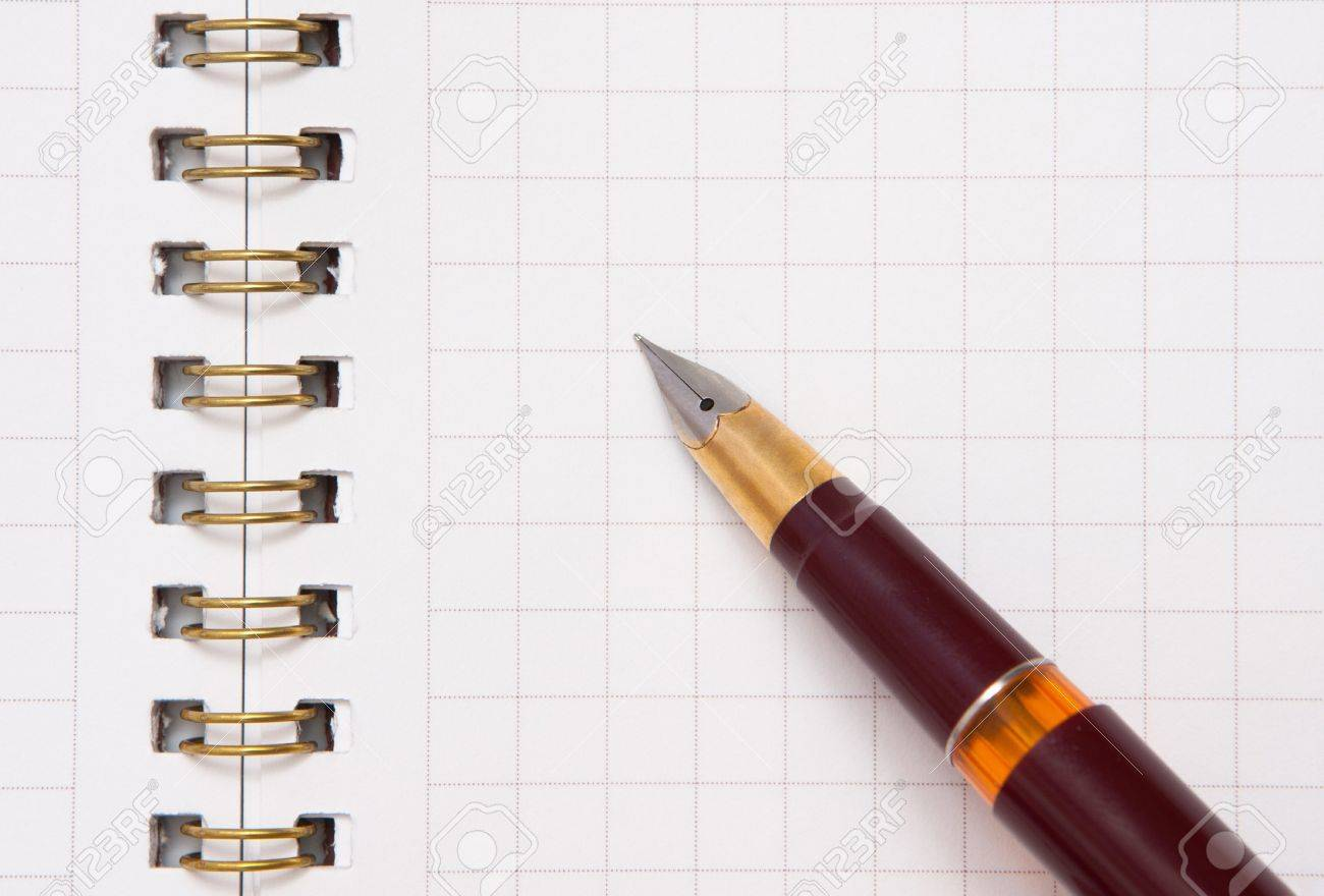 Pen and notebook Stock Photo - 12056626
