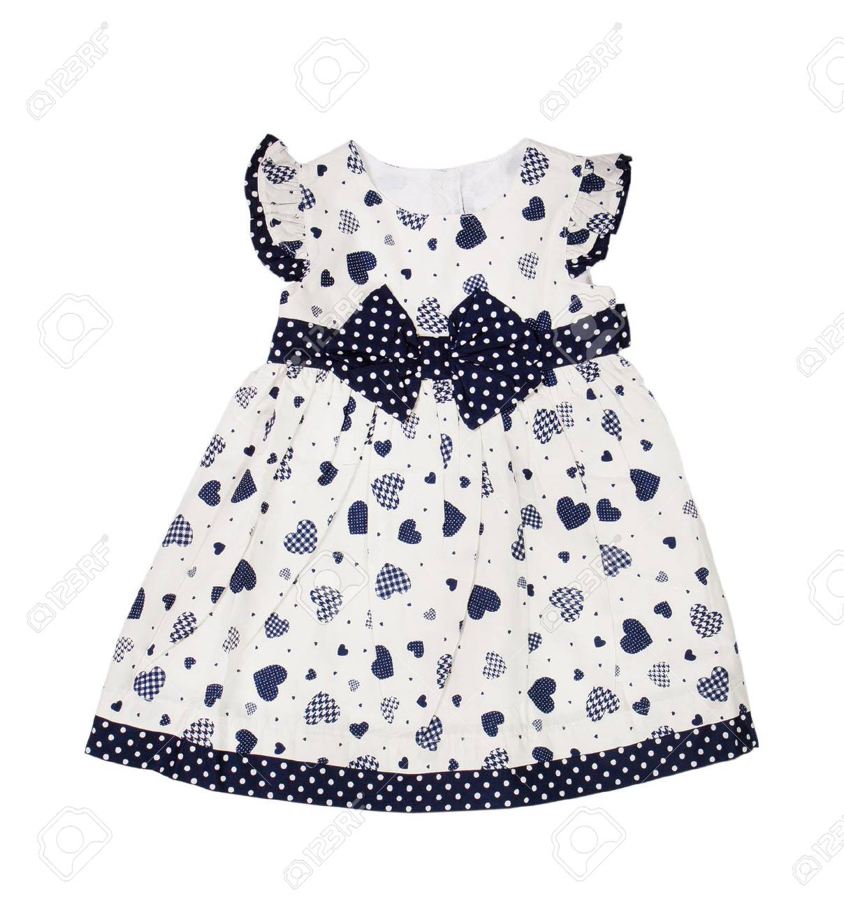 c2968301916e Red Knitted Baby Dress On A White Background Stock Photo